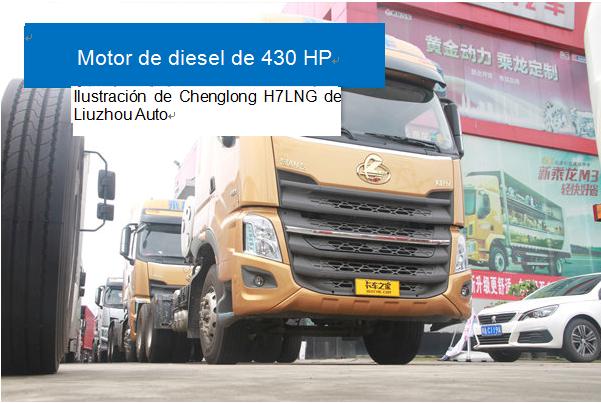 Motor de diesel de 430 HP, Ilustración de Chenglong H7LNG de Liuzhou Auto